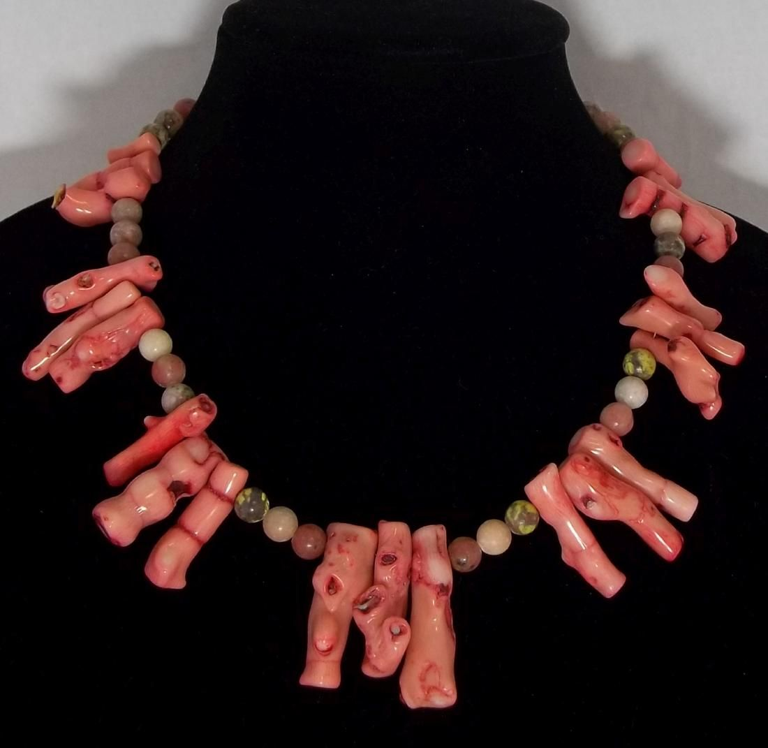 Large Branch Coral Bead Necklace