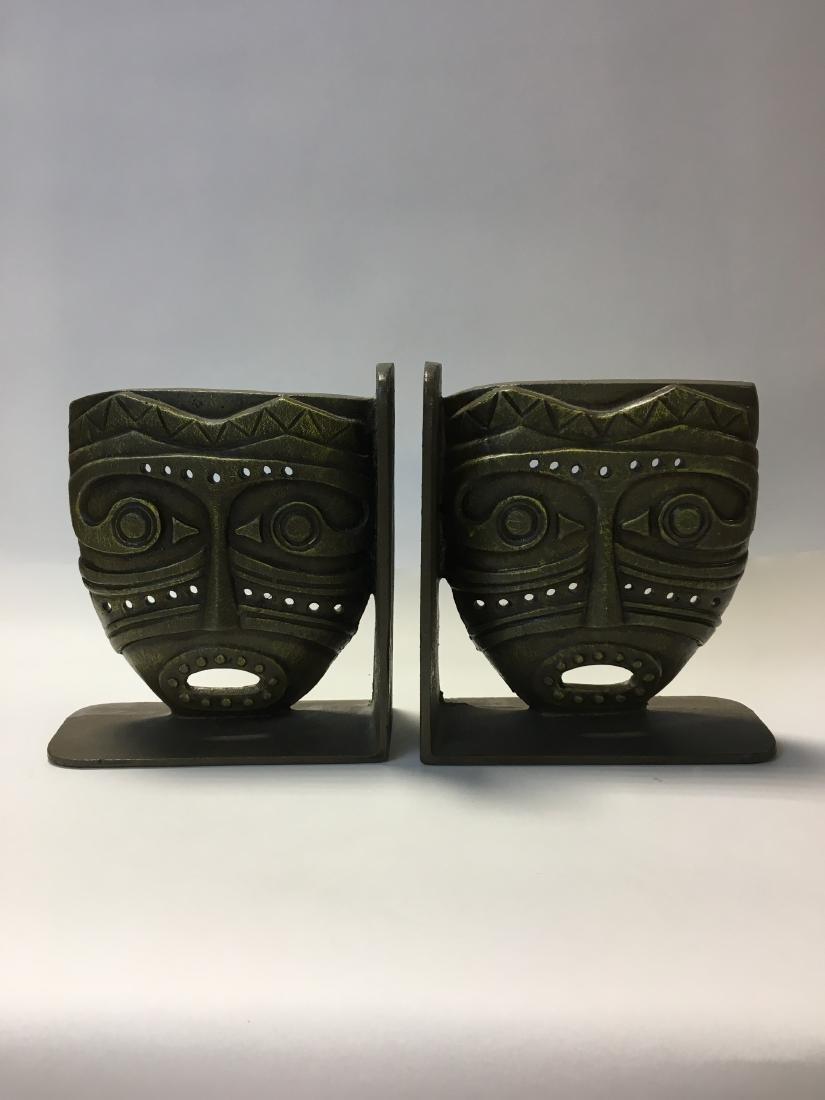 Vintage Iron Tiki Bookends