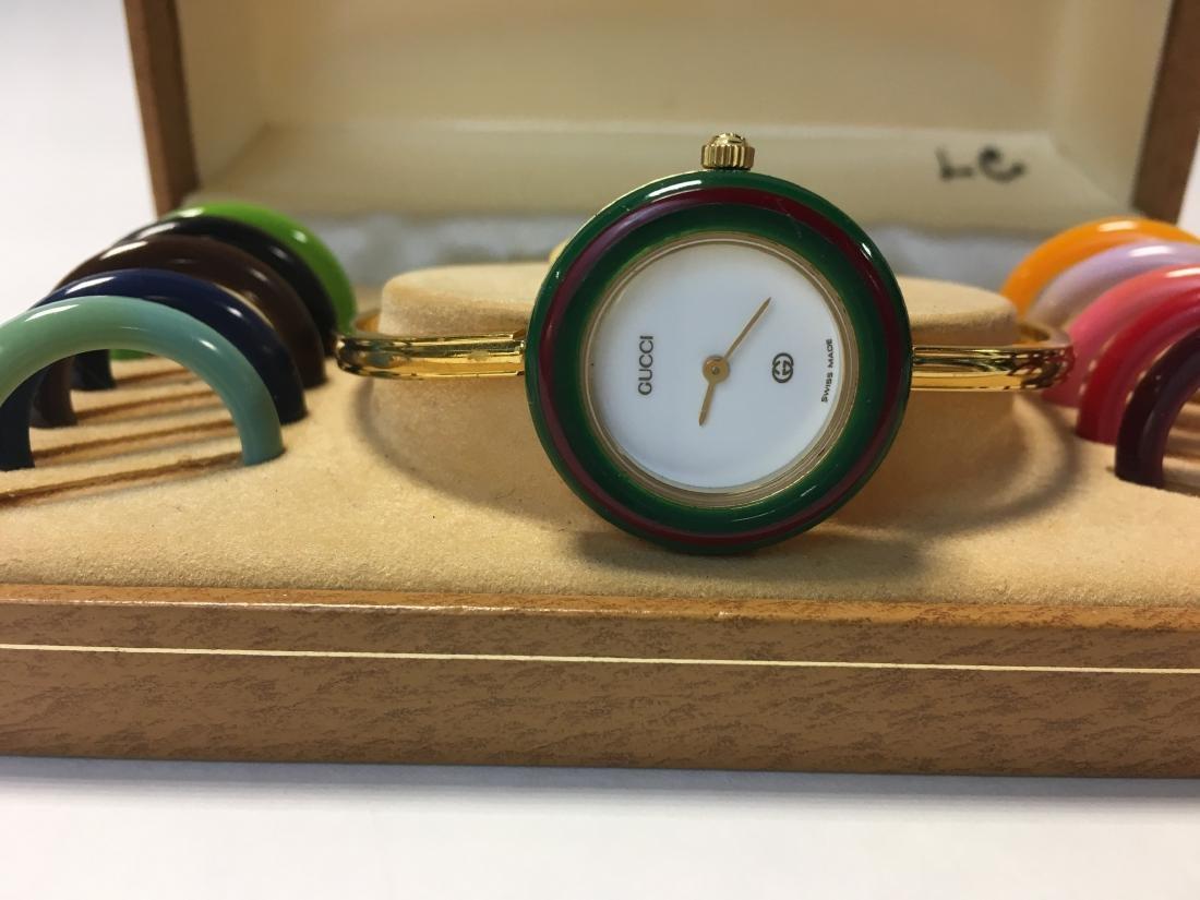 Vintage Ladies Gucci Changeable Bezel Watch