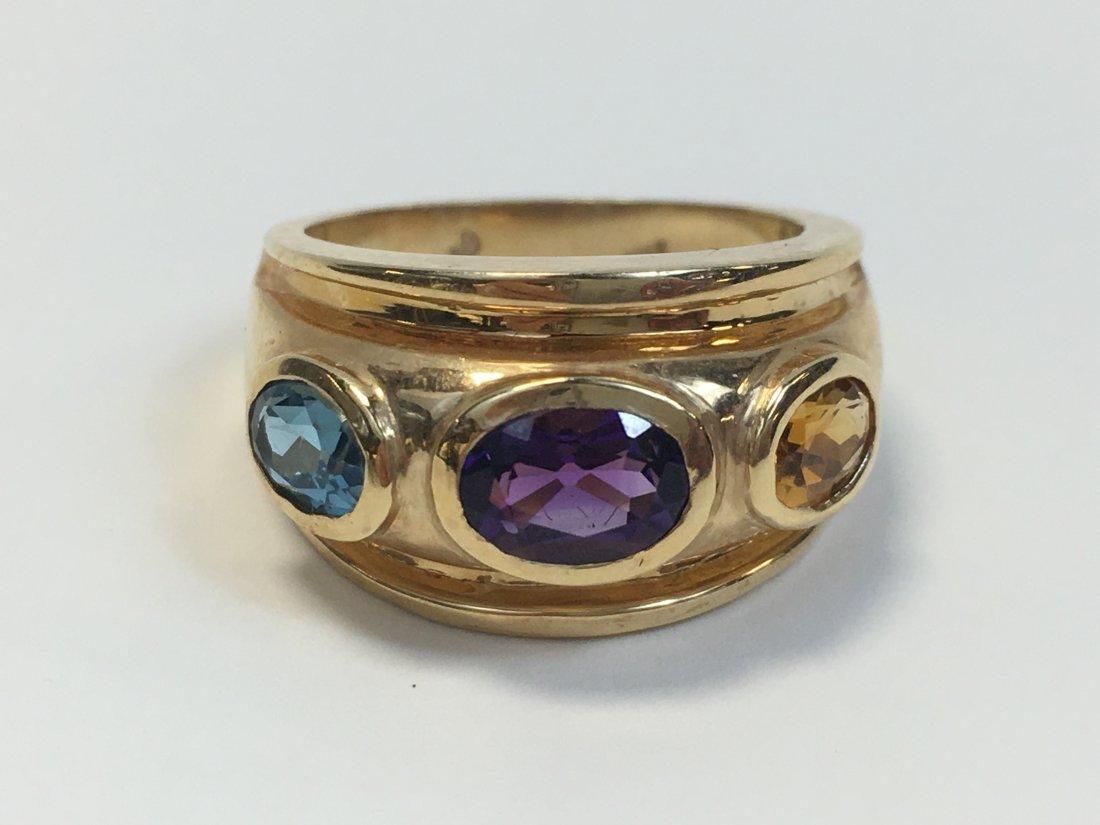 14K Gold & Gemstone Ring