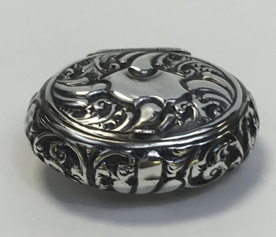 Antique Sterling Silver Engish Snuff Box