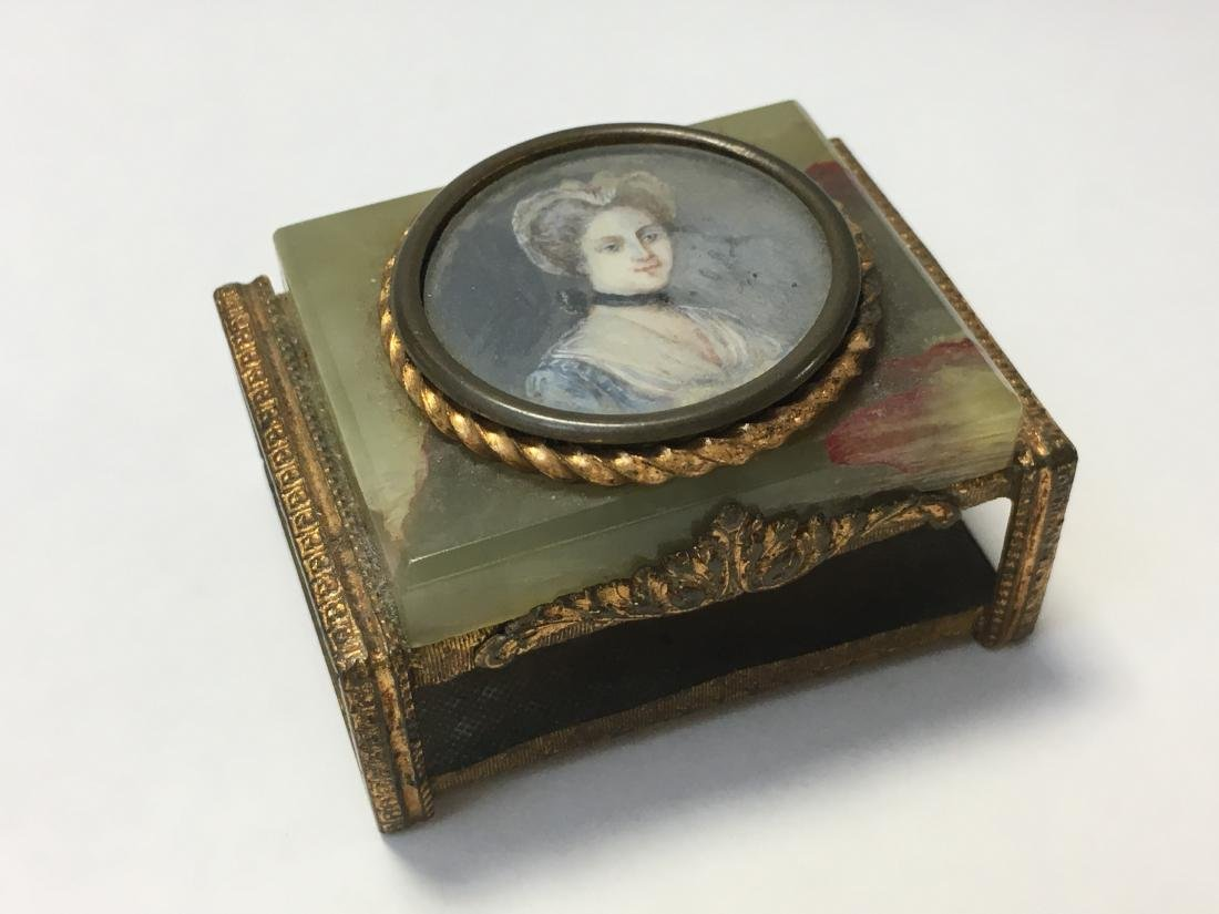 Early 20th Century Miniature Portrait Match Box Holder