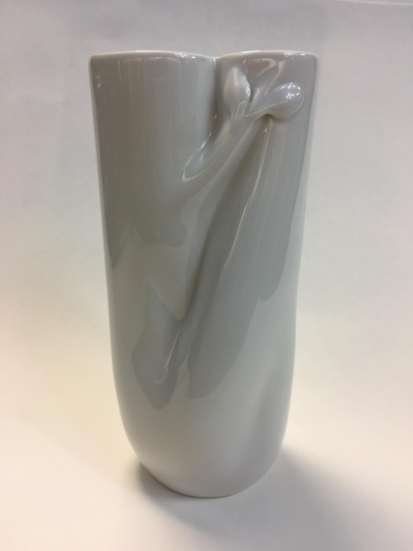 Mid Century Meissen White Porcelain Vase