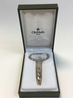 Christofle Sterling Silver Figural Boat Key Ring