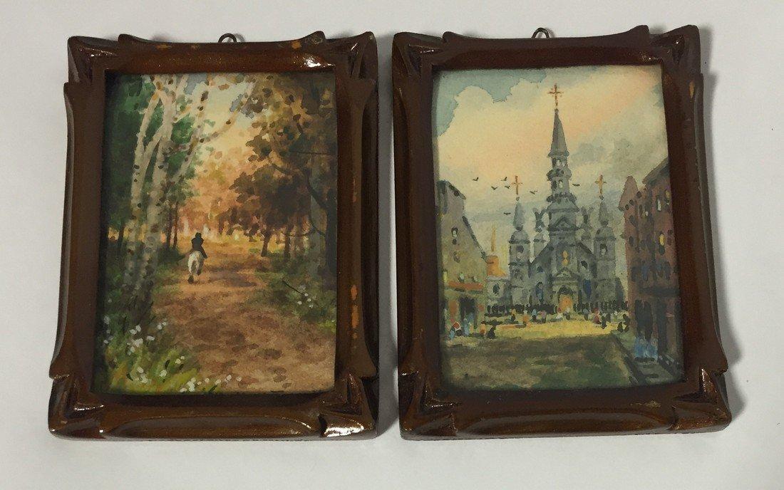 Willard Mitchell Watercolor Paintings