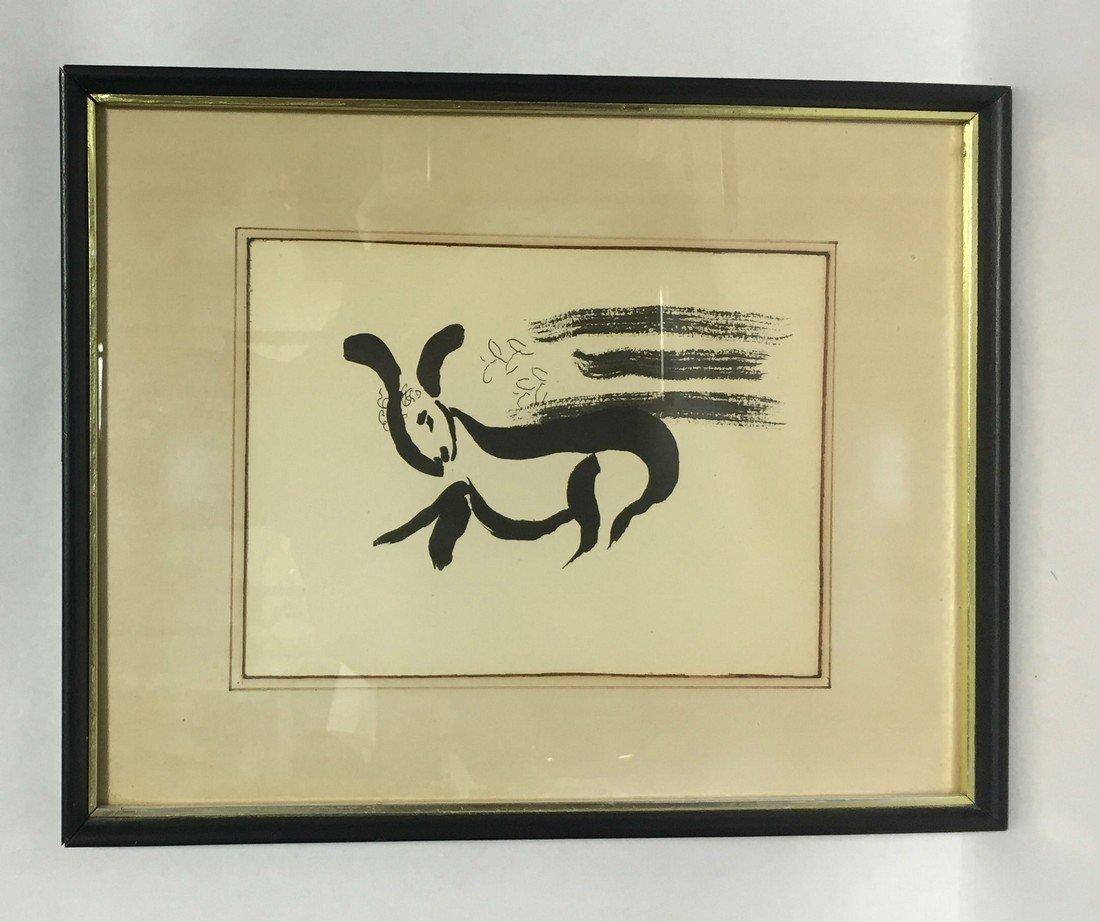 Marc Chagall Biblical Lithograph