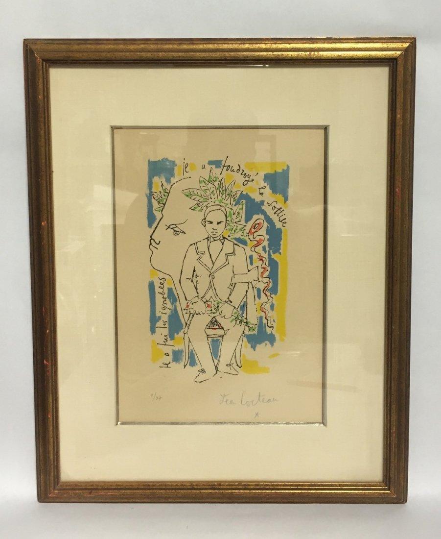 Jean Cocteau Signed Lithogrpah