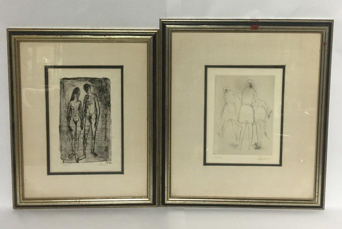 Jean Jansem Pair of Nude Prints