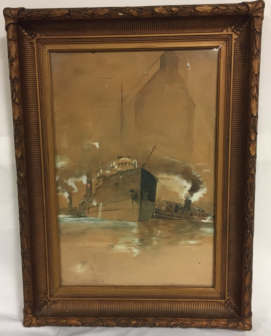 Mystery Artist Antique Watercolor