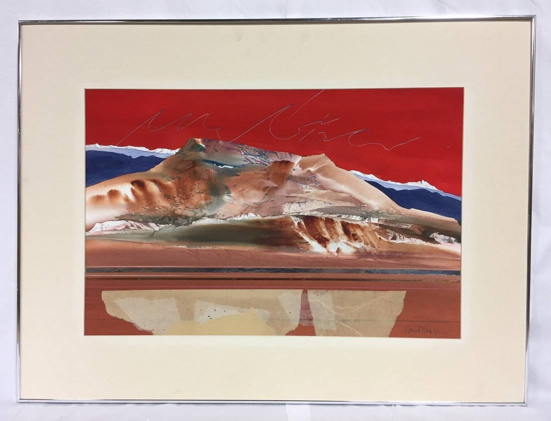 Harold E. Larson #3 Red Sky Painting