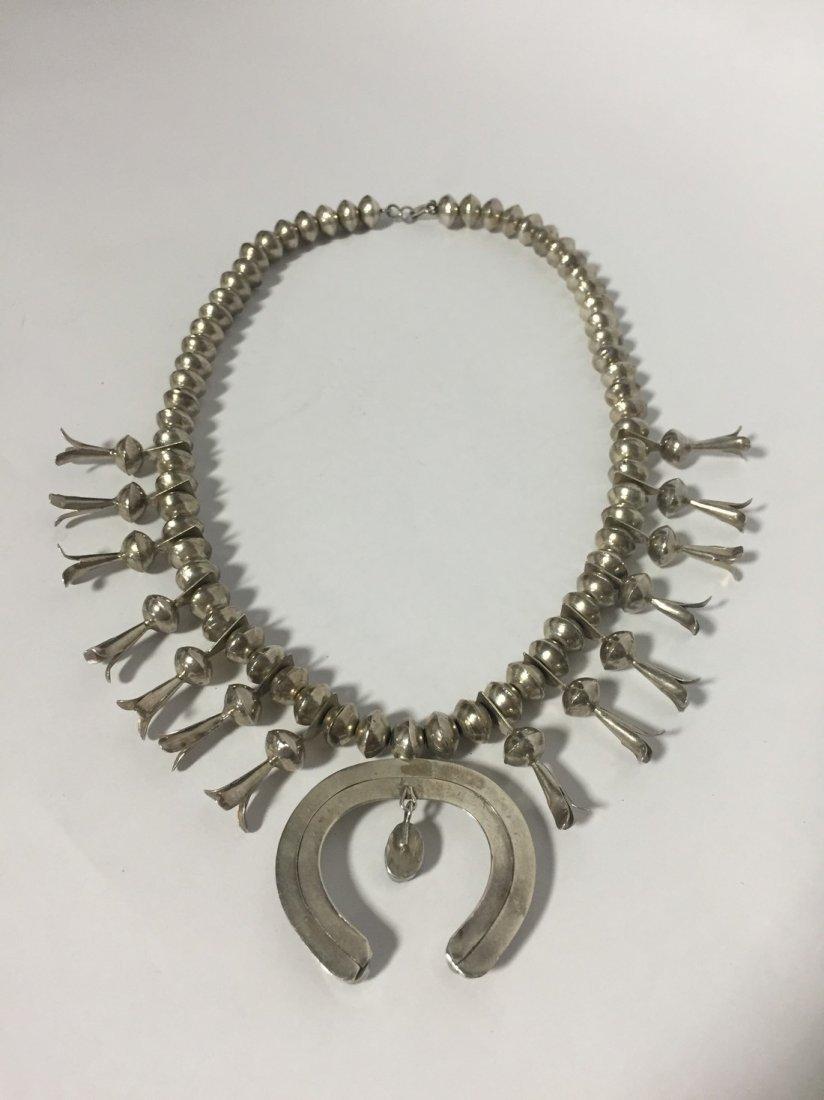 Native American Squash Blossom Necklace - 2