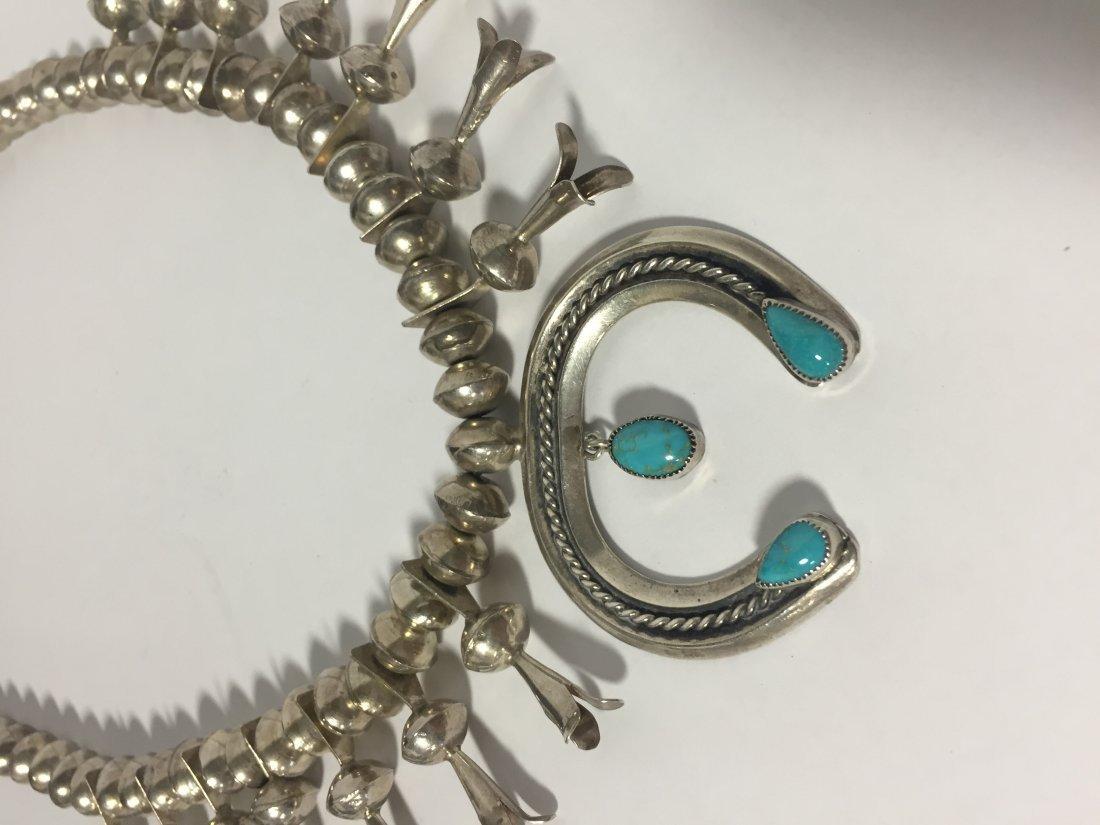 Native American Squash Blossom Necklace - 3