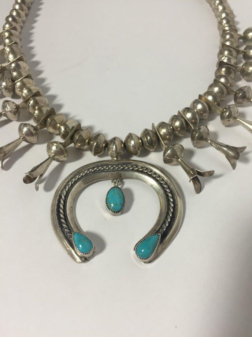 Native American Squash Blossom Necklace - 4