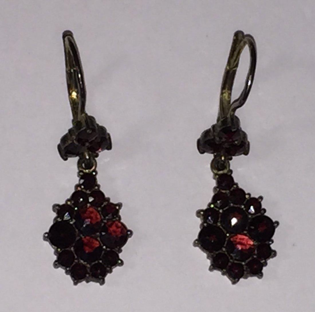 Rose Cut Bohemian Garnet Jewelry Suite - 2