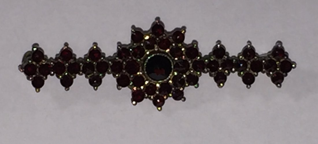 Rose Cut Bohemian Garnet Jewelry Suite - 3