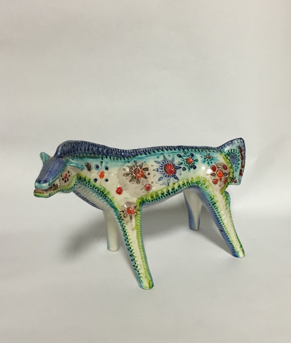 Mid Century Abstract Ceramic Horse