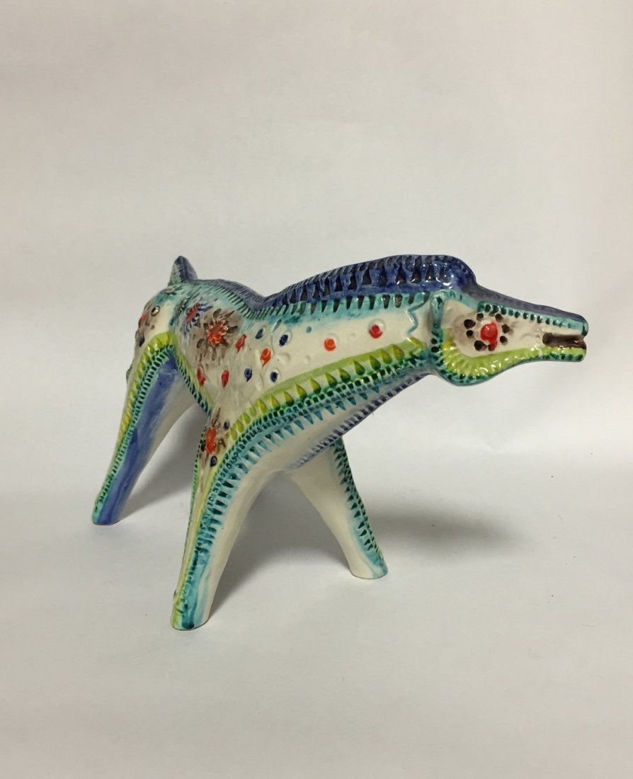 Mid Century Abstract Ceramic Horse - 2