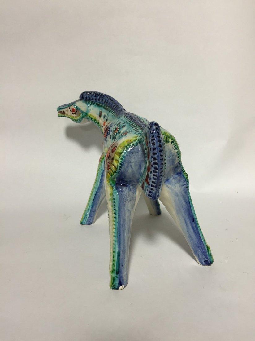 Mid Century Abstract Ceramic Horse - 3