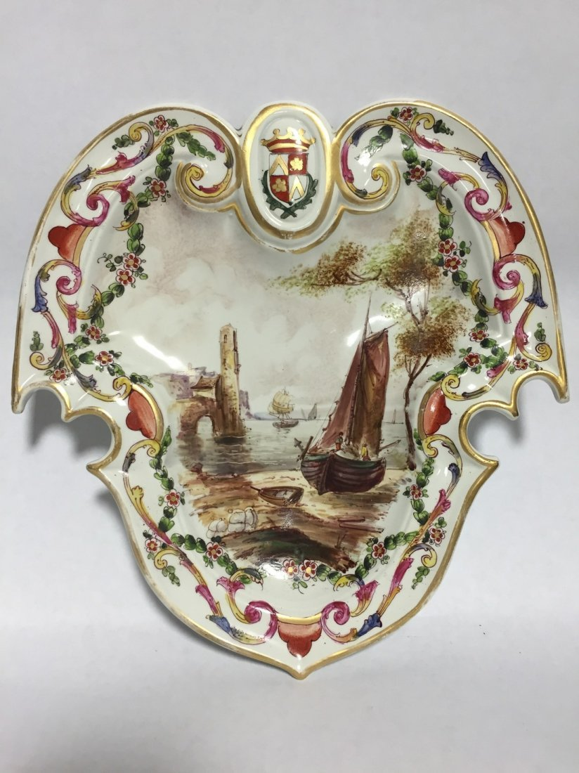 Lille 1767 Hand Painted Harbor Scene Bowl & Plate - 3