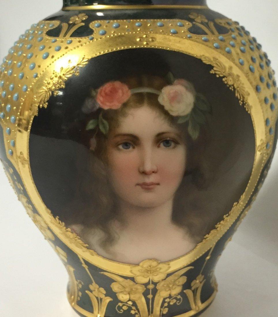 Austian Porcelain Portrait Jar - 2
