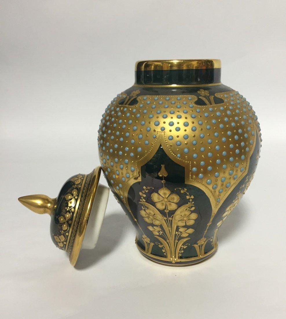 Austian Porcelain Portrait Jar - 4