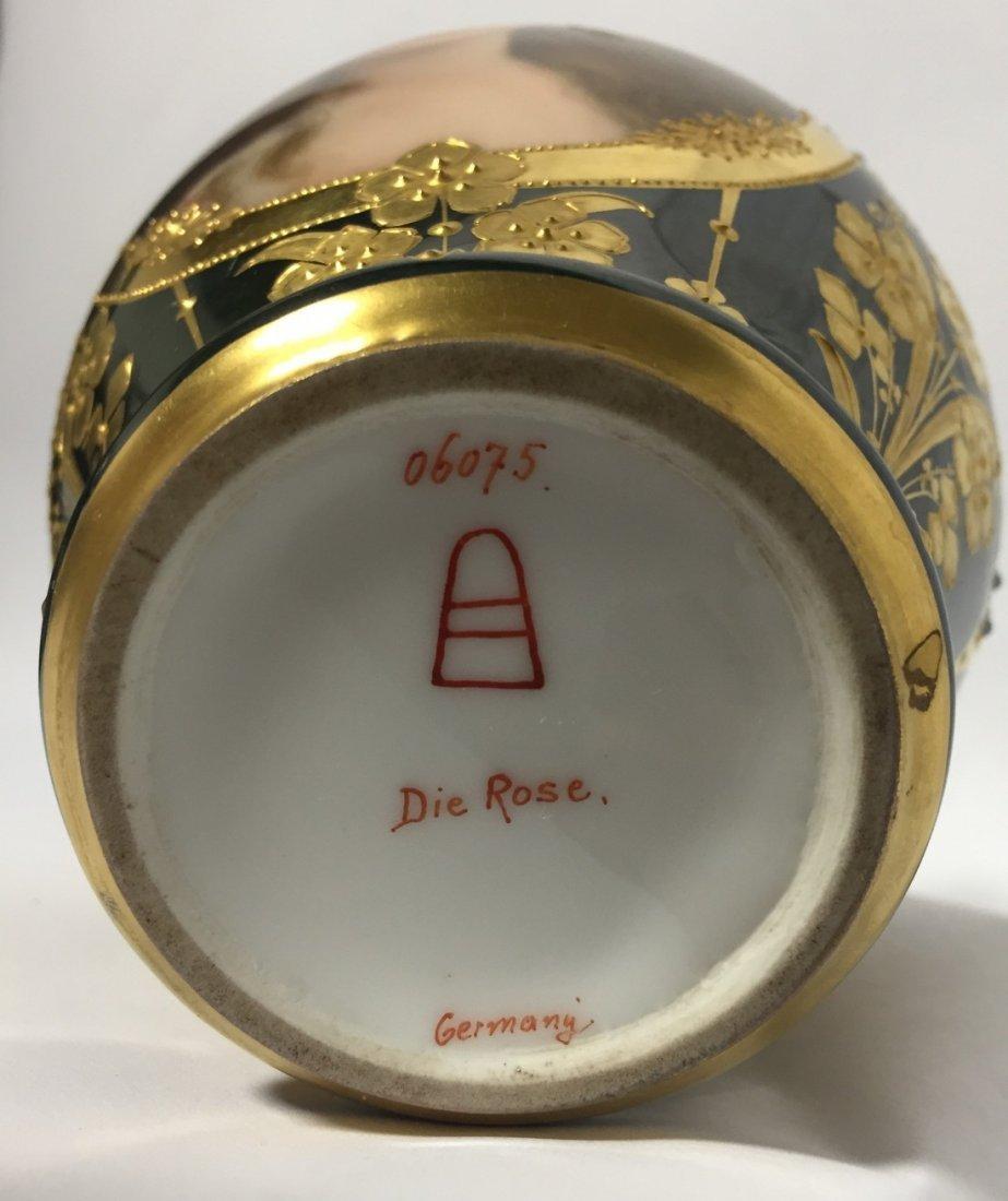 Austian Porcelain Portrait Jar - 5