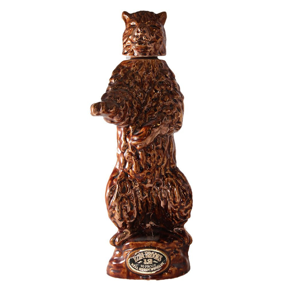 Vintage 1968 Ezra Brooks Grizzly Bear Whiskey Decanter