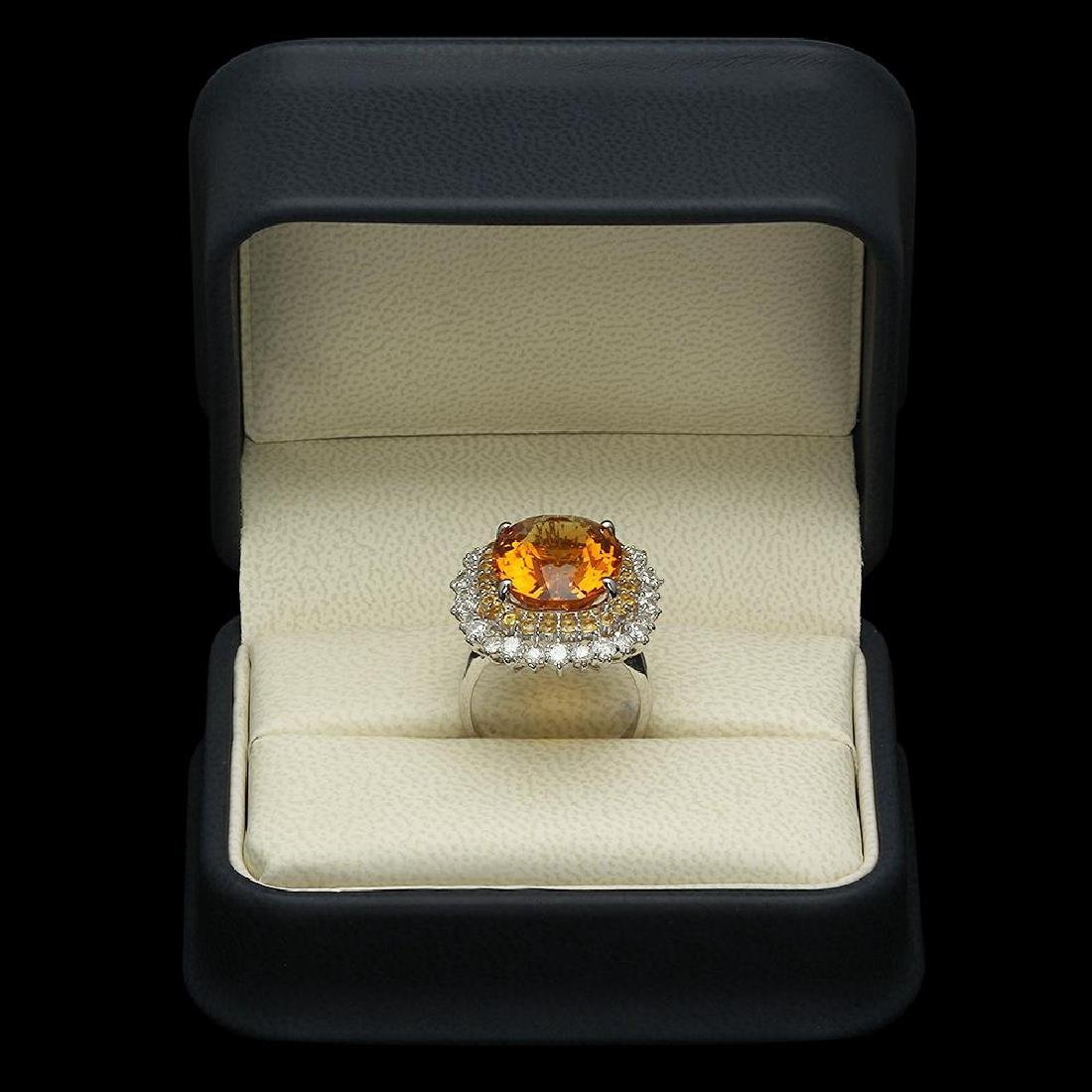 14K Gold 10.40ct Citrine 1.00ct Sapphire 1.39ct Diamond - 4