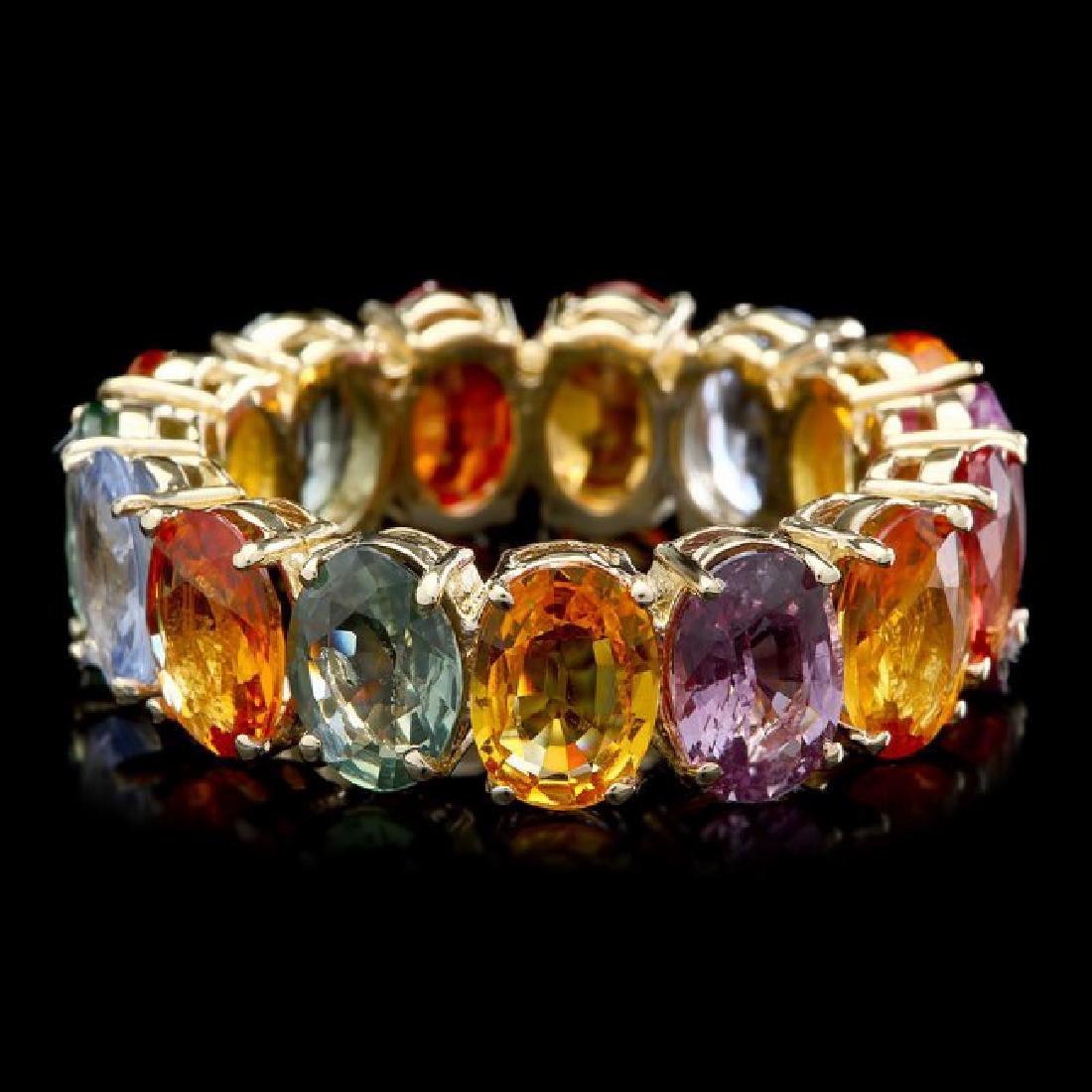 14k Yellow Gold 12.00ct Sapphire Ring