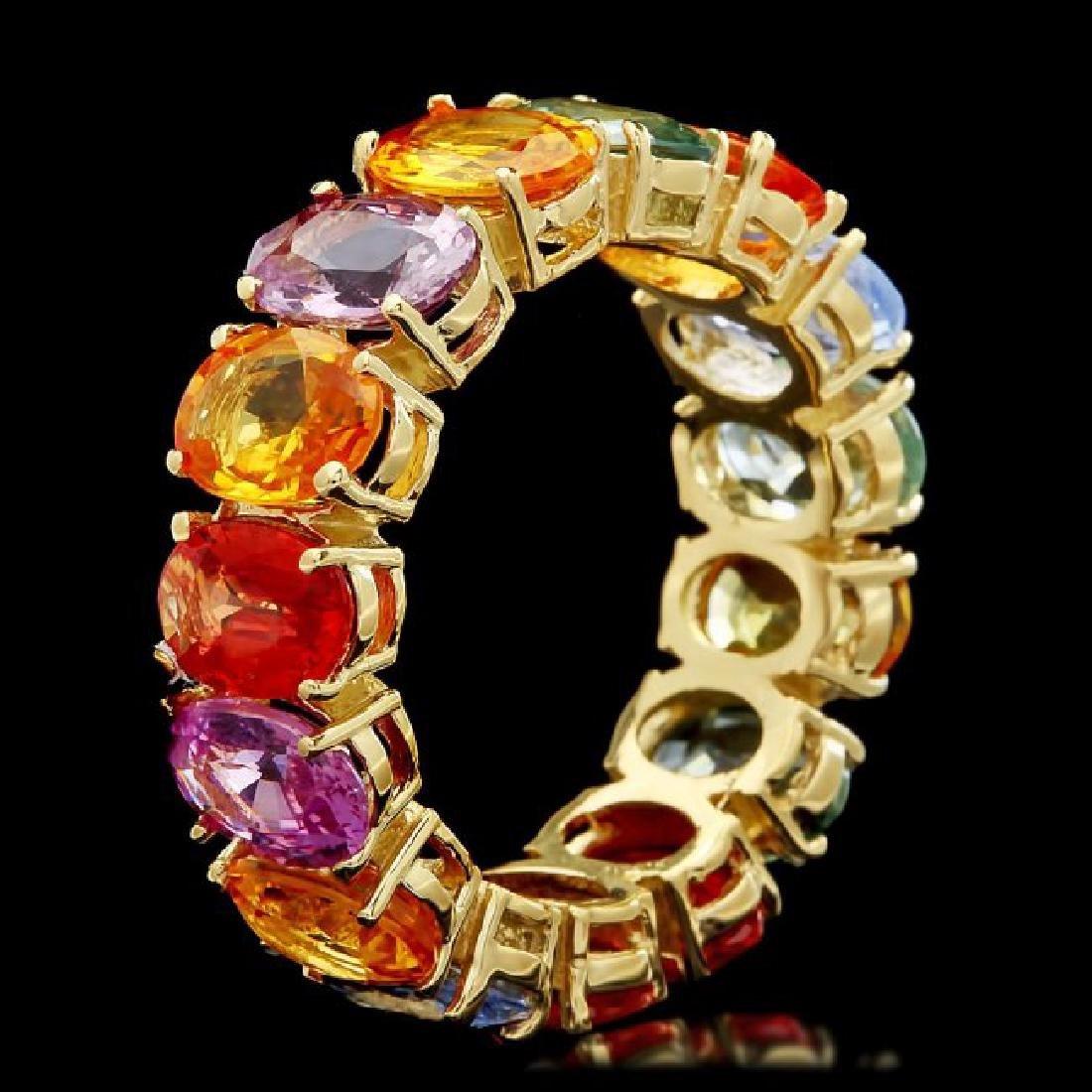 14k Yellow Gold 12.00ct Sapphire Ring - 2