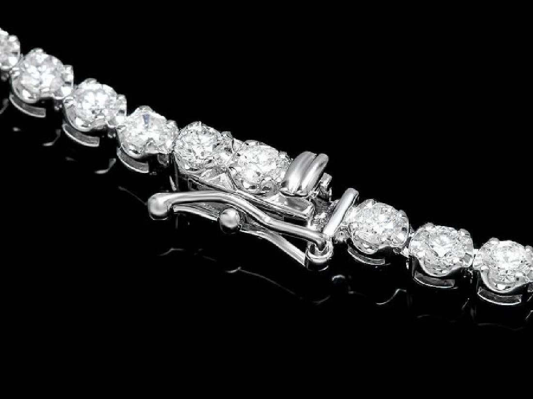 18k White Gold 11.60ct Diamond Necklace - 3