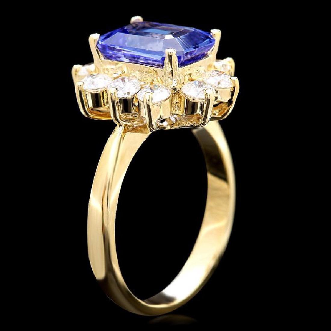 14k Gold 3.00ct Tanzanite 1.20ct Diamond Ring - 3
