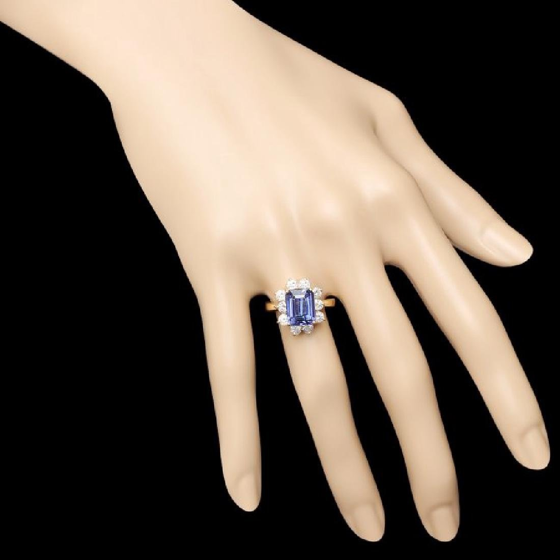 14k Gold 3.00ct Tanzanite 1.20ct Diamond Ring - 4