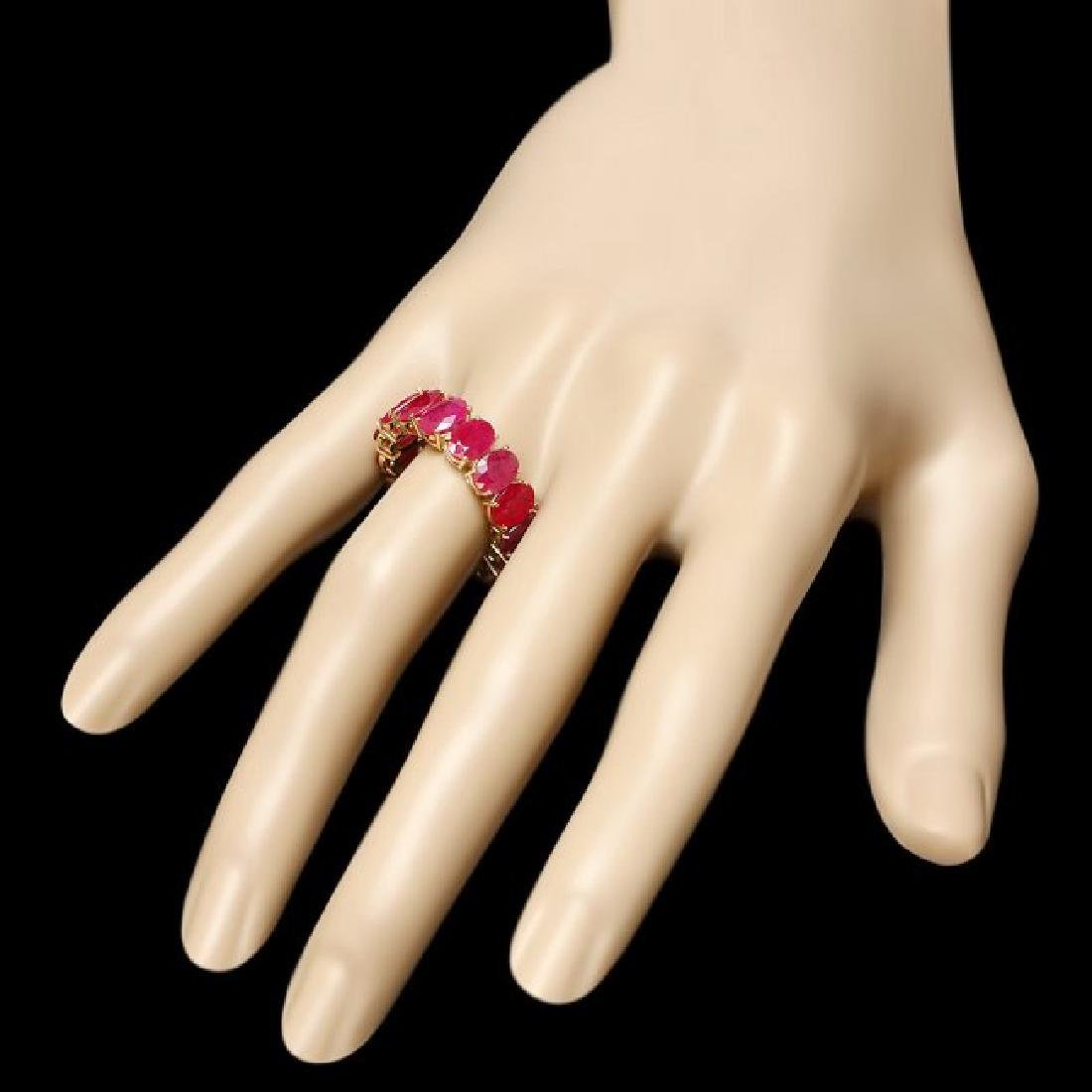 14k Yellow Gold 13.30ct Ruby Ring - 3