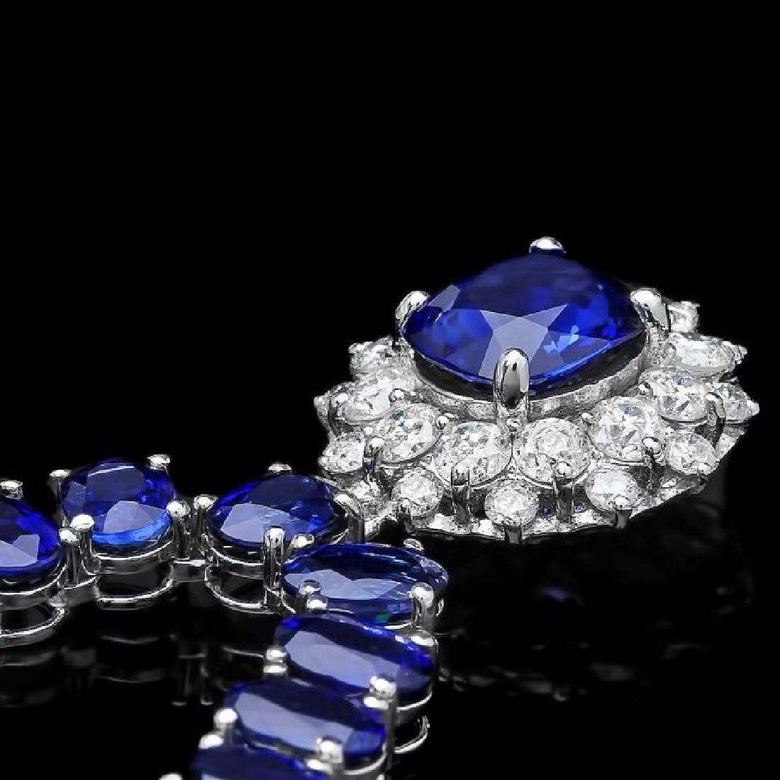 14k Gold 51.5ct Sapphire 1.55ct Diamond Necklace - 2