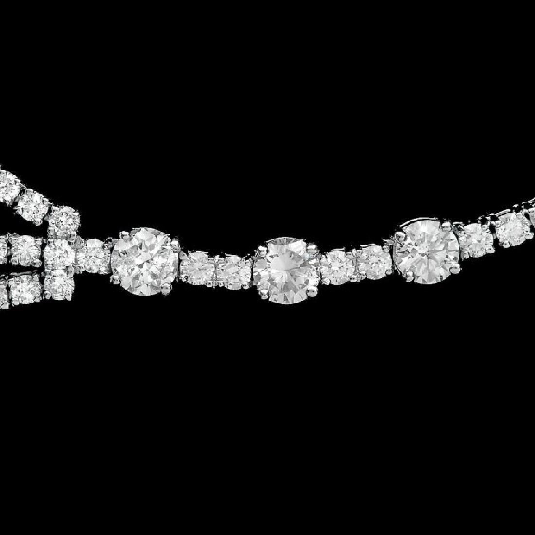 18k White Gold 12.90ct Diamond Necklace - 4