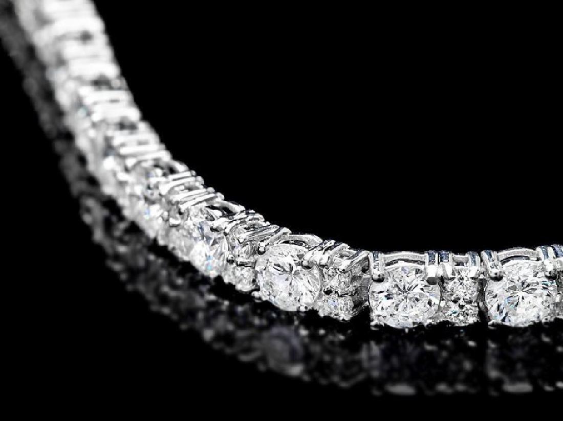18k White Gold 8.70ct Diamond Bracelet - 2