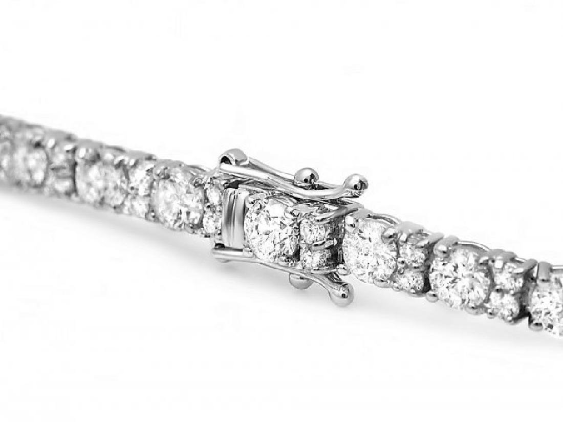 18k White Gold 8.70ct Diamond Bracelet - 3