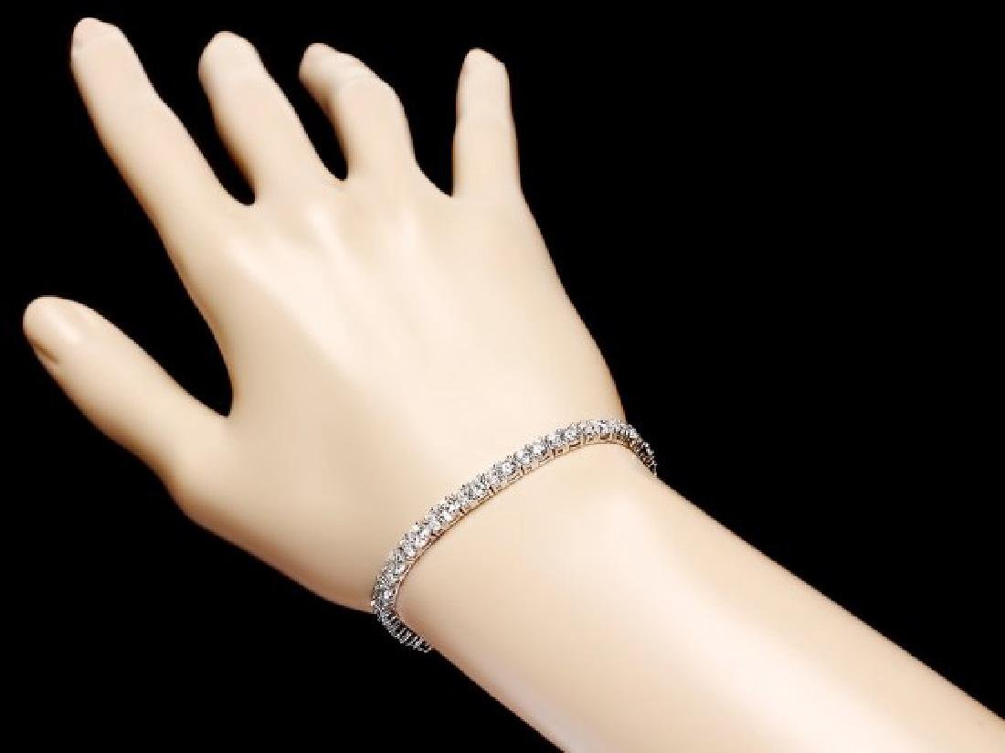 18k White Gold 8.70ct Diamond Bracelet - 5