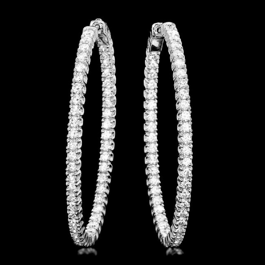 14k White Gold 5.20ct Diamond Earrings