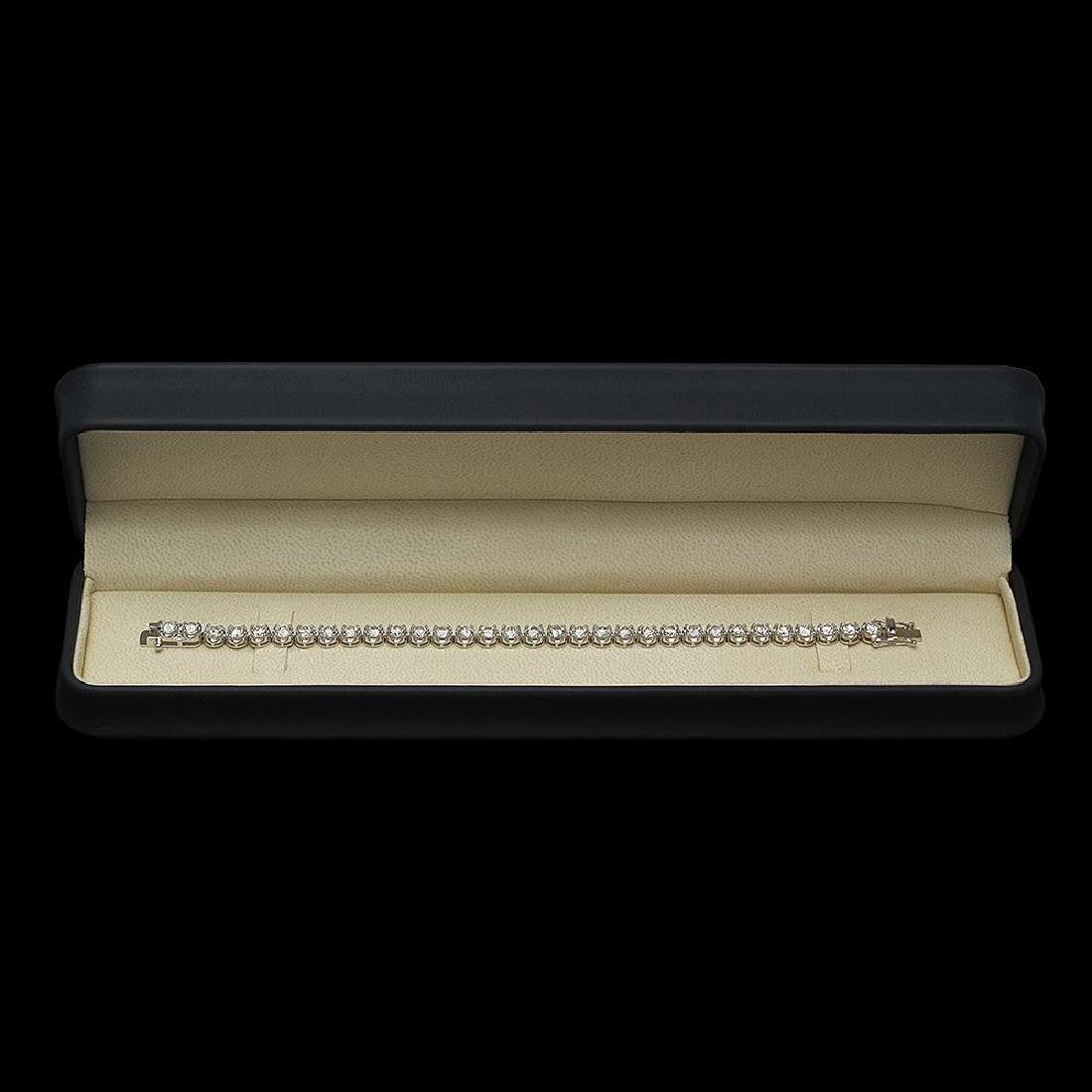 18K Gold 8.54ct Diamond Bracelet - 3
