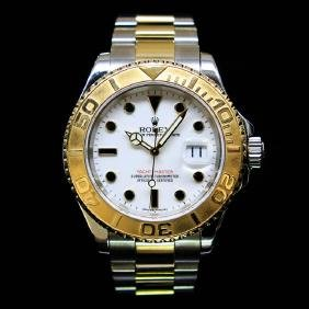 Rolex Two-Tone YachtMaster 40mm Mens Wristwatch