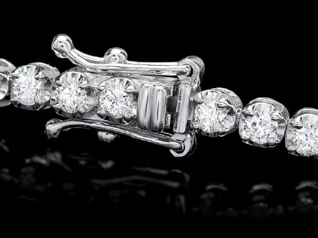 18k White Gold 2.80ct Diamond Bracelet - 2