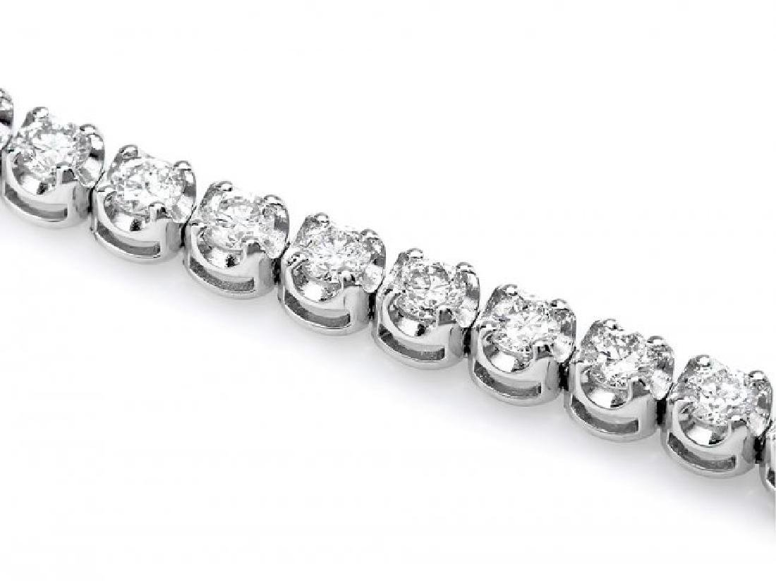 18k White Gold 2.80ct Diamond Bracelet - 3