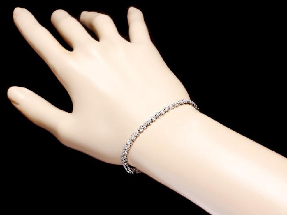 18k White Gold 2.80ct Diamond Bracelet - 5