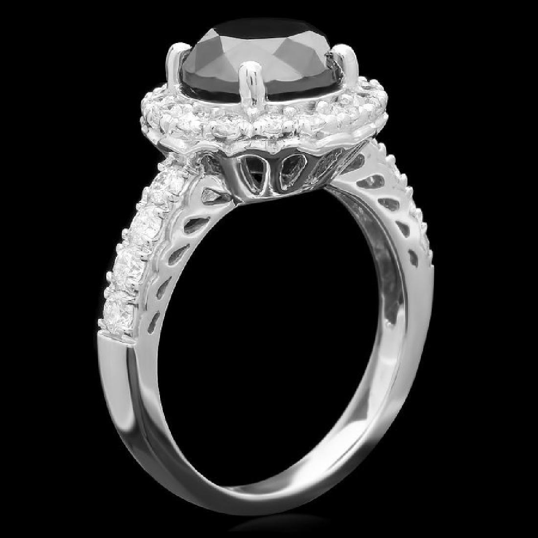 14k White Gold 4.15ct Diamond Ring - 2