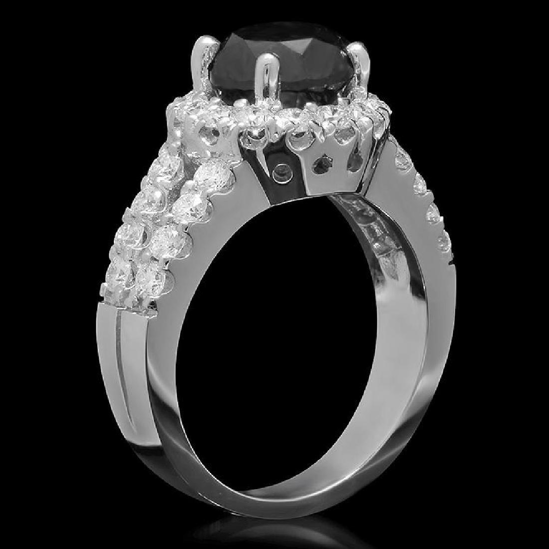 14K Gold 3.0ct Fancy Color Diamond 4.30ct Diamond Ring - 2