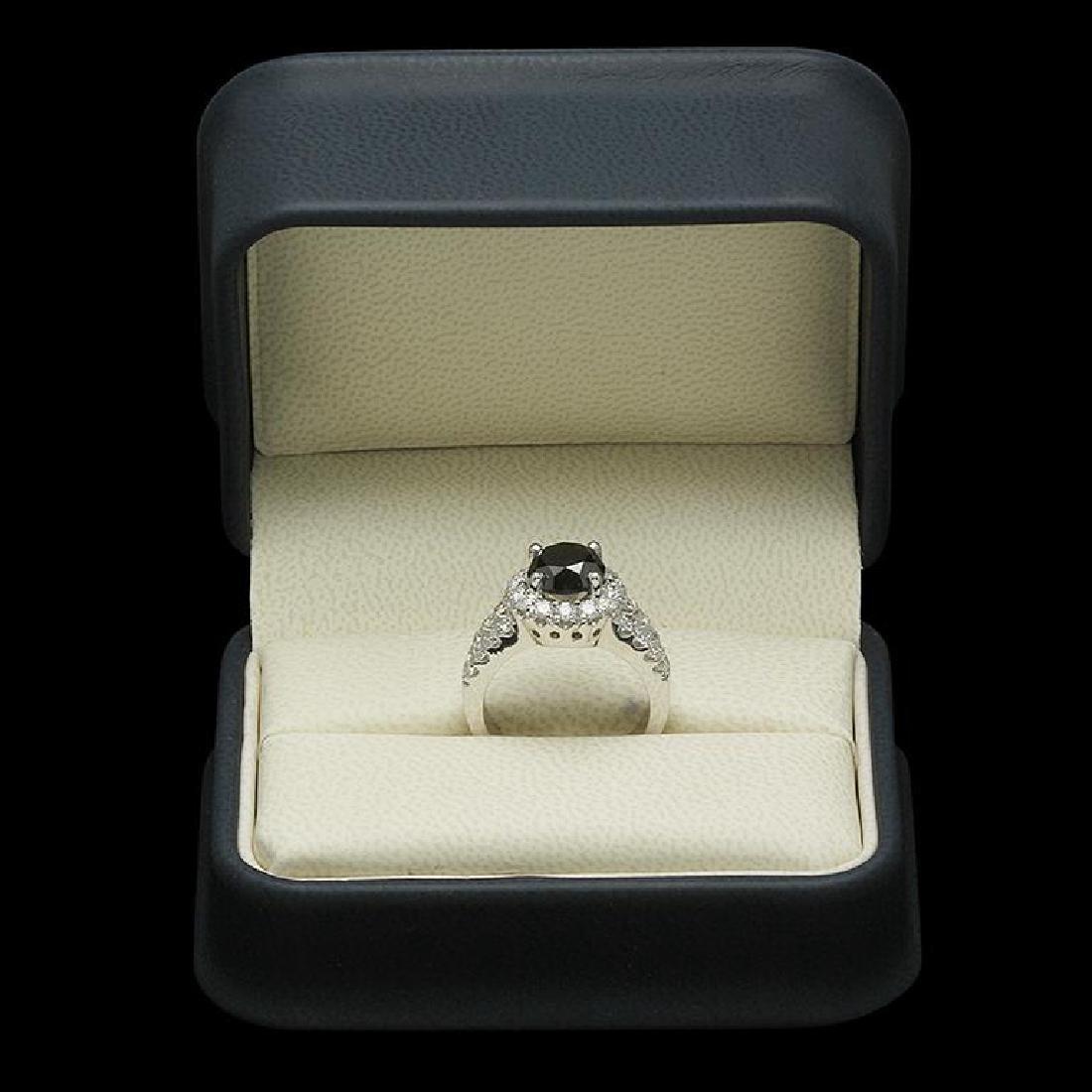 14K Gold 3.0ct Fancy Color Diamond 4.30ct Diamond Ring - 3