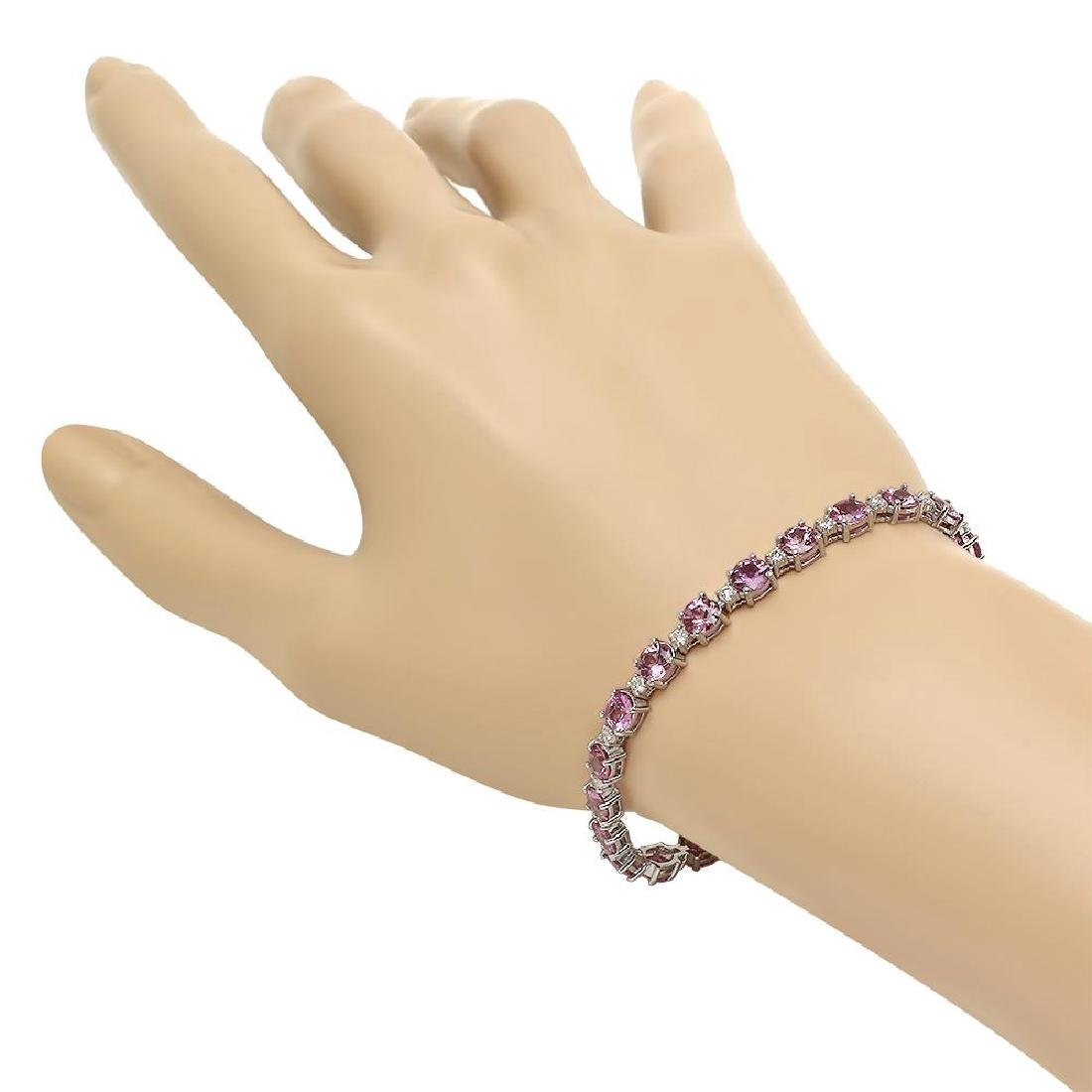 18K Gold 10.12ct Sapphire 0.96ct Diamond Bracelet - 2