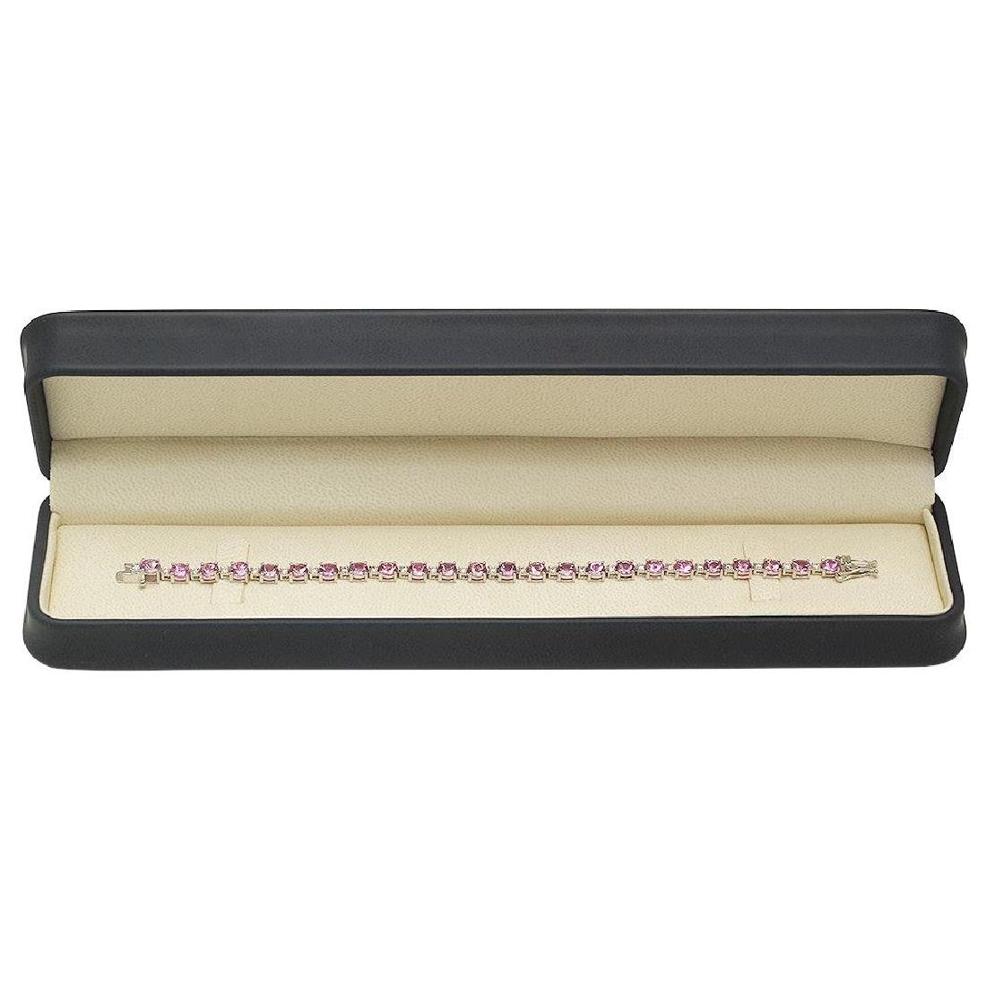 18K Gold 10.12ct Sapphire 0.96ct Diamond Bracelet - 3